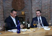 Victor Ponta, la o degustare de vinuri cu premierul georgian Irakli Garibashvili