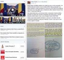 Postarea lui Ponta pe Facebook