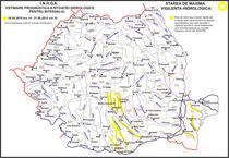 Cod Galben de inundatii in sapte judete din sud si Dobrogea