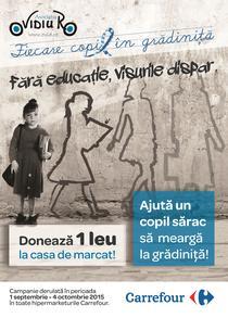 Fara educatie, visurile dispar- campanie derulata de OvidiuRo si Carrefour