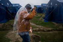 Refugiati in tabara de la Kanjiza