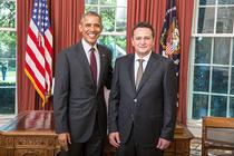 George Maior si-a prezentat scrisorile de acreditare presedintelui Barack Obama