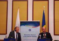 Bogdan Aurescu si ministrul de externe polonez