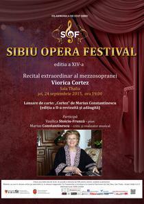 Viorica Cortez in recital la Sibiu Opera Festival