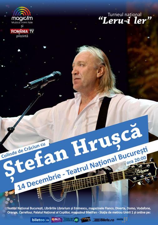Afis STEFAN HRUSCA - Bucuresti