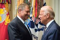 Klaus Iohannis si Joe Biden, la Casa Alba