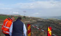 Autostrada Orastie - Sibiu, excavata pe o portiune de 200 de m