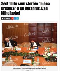 Dan Mihalache ar fi adormit in timpul unei intalniri oficiale