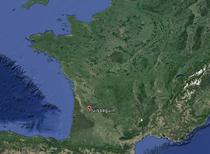 Zona accidentului (la 57 km de Bordeaux)