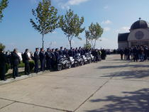 politisti veniti cu motociclete la inmormantarea lui Bogdan Gigina