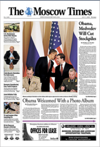 Prima pagina The Moscow Times