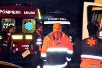 Echipaje medicale intervin la incendiul din Club Colectiv