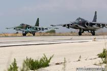 Avioane rusesti de vanatoare SU-25