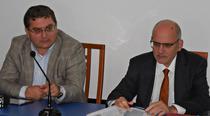 Ministrul Transporturilor Iulian Matache si seful CNADNR Narcis Neaga