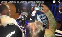 Jorge Lorenzo, incident la sarbatorirea titlului din MotoGP