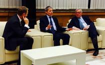 Ciolos, Tusk si Junker