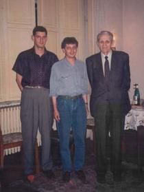 Cosmin Borc alaturi de Corneliu Coposu si Vladimir Tismaneanu