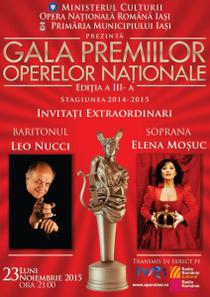 Gala Premiilor Operelor Nationale, Iasi 2015