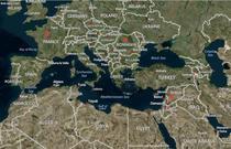 Harta- Franta, Romania, Siria