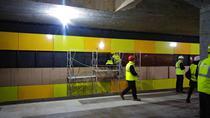 Decorul din statia de metrou Straulesti