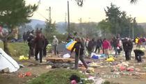 La granite au avut loc confruntari intre politisti si migranti