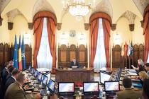 Klaus Iohannis, prezidand sedinta CSAT