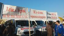 Protest al transportatorilor impotriva cresterii tarifelor RCA