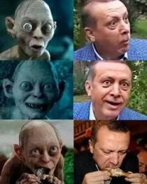 Erdogan, comparat cu Gollum