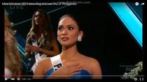 Momentul in care Miss Filipine a fost anuntata ca s-a produs o greseala