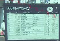 Tabela de sosiri a Garii de Nord, la ora 10.40, pe 8 decembrie