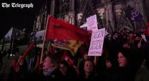 Proteste in Koln, dupa agresiunile sexuale din noaptea de Revelion