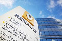 Intrarea in sediul Renault