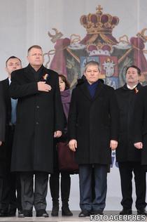 Klaus Iohannis si Dacian Ciolos, la Iasi