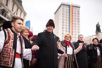 Klaus Iohannis, la manifestarile de Ziua Unirii de la Iasi (2016)