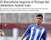 Andrei Ivan, dorit de FC Barcelona