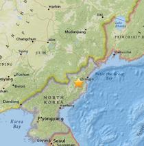 Posibila activitate seismica in Coreea de Nord