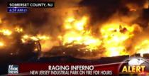 Incendiu intr-un parc industrial din New Jersey