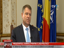 Klaus Iohannis, la TVR