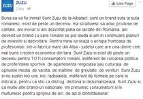 Mesajul Zuzu pe Facebook