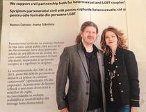 Cernea si prietena sa promovand parteneriatul civil