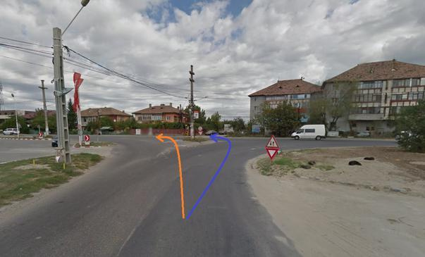 "Intersectie reglementata ""romaneste"""