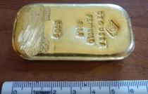 Lingou de aur, gasit intr-un lac bavarez