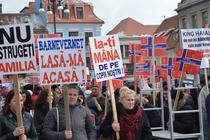 Miting de solidaritate cu familia Bodnariu la Brasov