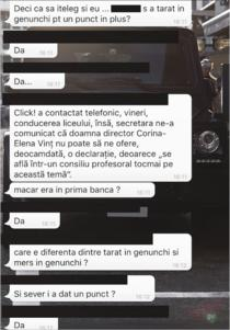 Fragment din discutii intre elevi de la Vianu, pe WhatsApp