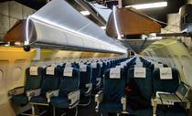 Replica unui interior de avion - locul de antrenament pentru Soimii Aerului