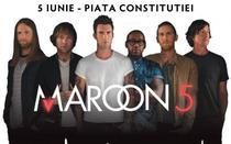 Afis Concert Maroon 5, in Piata Constitutiei