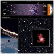 Imagini cu GN-z11 surprinse de Telescopul Hubble