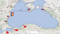 Harta bazelor navale militare in Marea Neagra