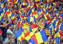 Atmosfera superba la meciul Romaniei