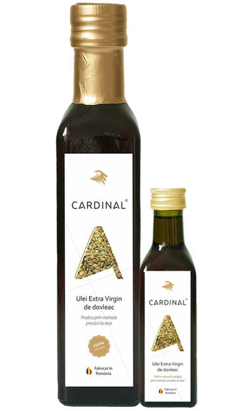 Uleiuri presate la rece din seminte de dovleac Cardinal